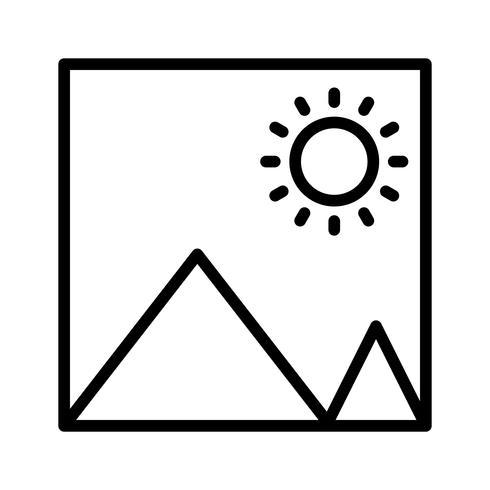 Icône de photo de vecteur