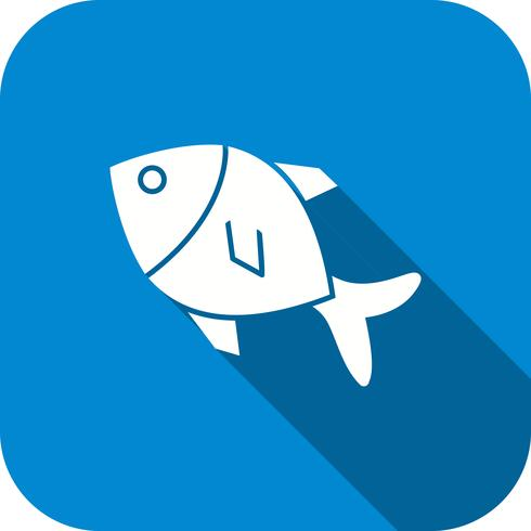 Icône de poisson de vecteur