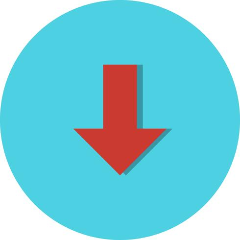 icône de vecteur vers le bas