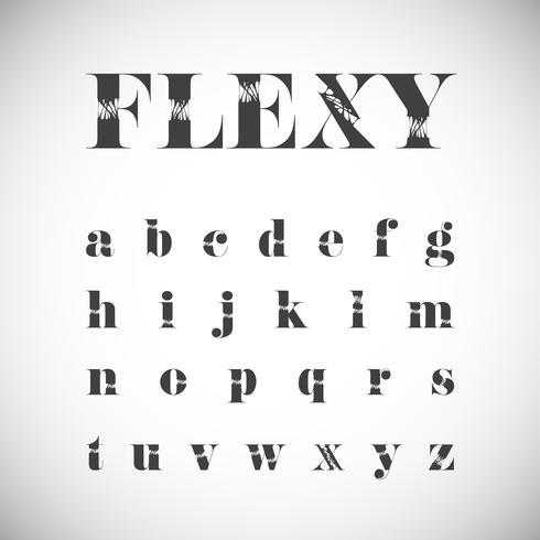Jeu de caractères Flexy, illustration vectorielle vecteur
