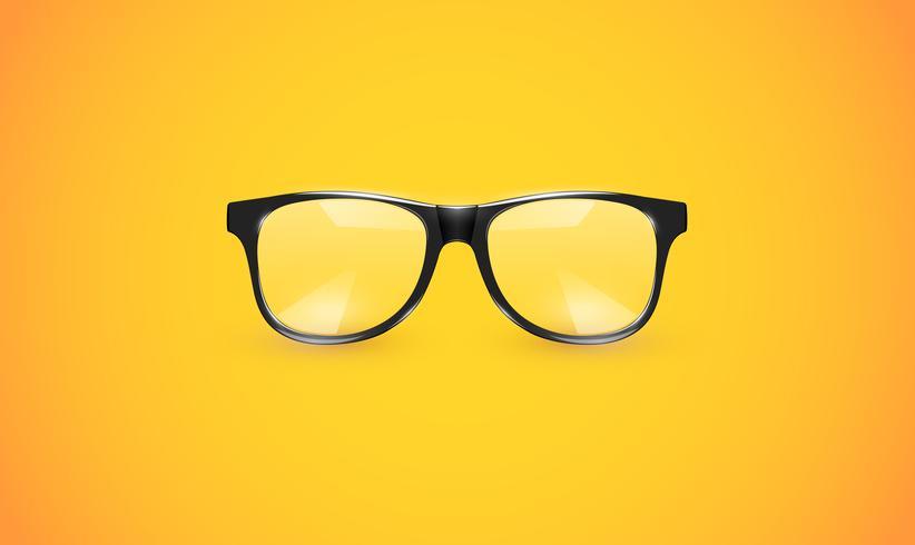 Hautes lunettes détaillées sur fond coloré, illustration vectorielle vecteur