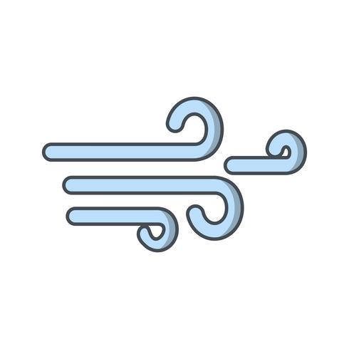 Icône de vecteur de vent