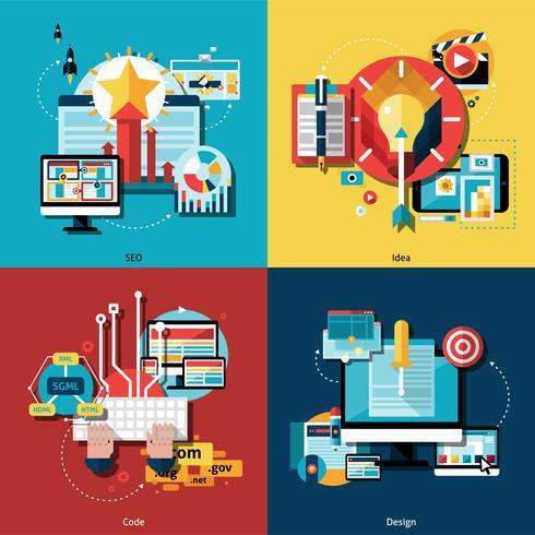 Projet créatif Icons Set vecteur