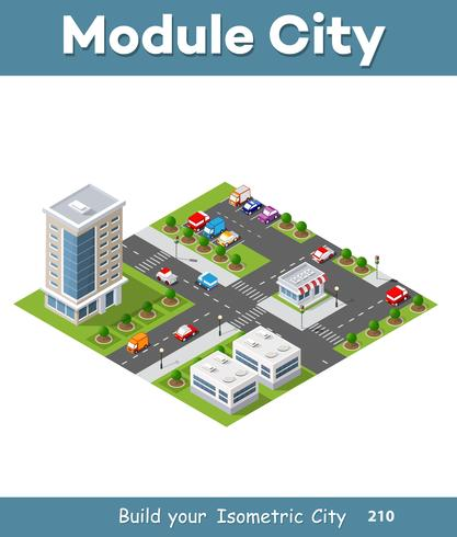 Zone urbaine de la ville vecteur