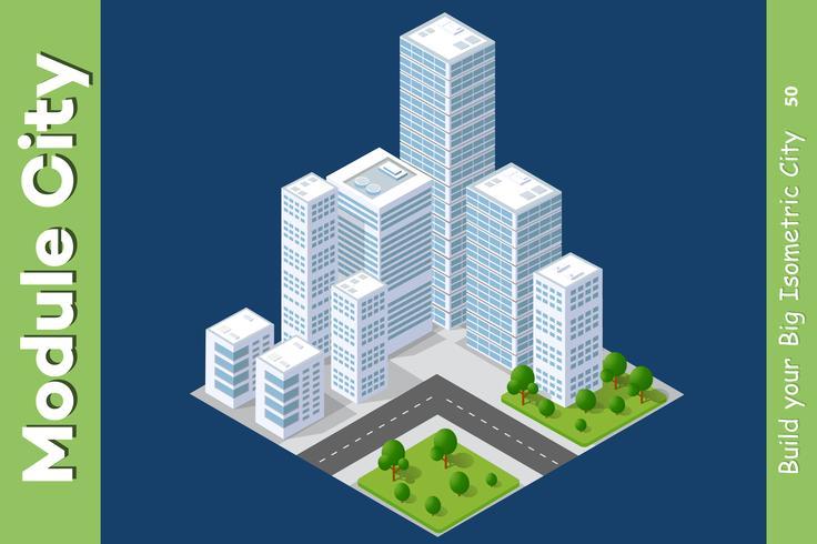 Ensemble de zones urbaines de modules vecteur