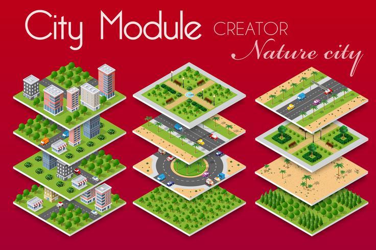 concept d'entreprise d'infrastructures urbaines. vecteur