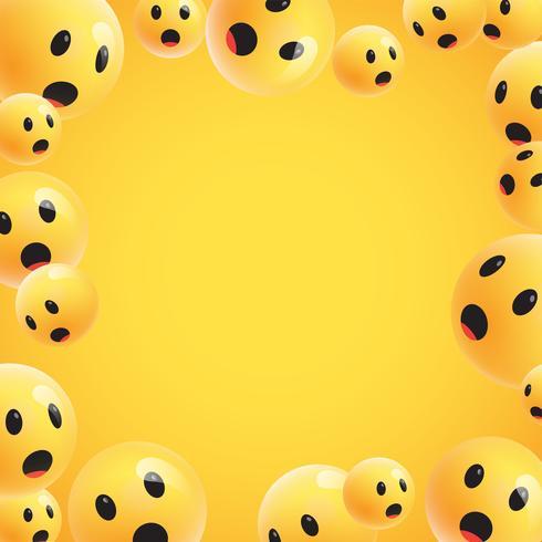 Groupe d'émoticônes jaunes détaillées hautes, illustration vectorielle vecteur