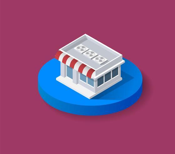 Boutique 3D isométrique vecteur