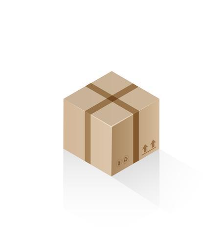 Boîte cadeau isométrique vecteur