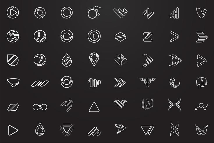 Logo vectoriel minimal moderne pour bannière