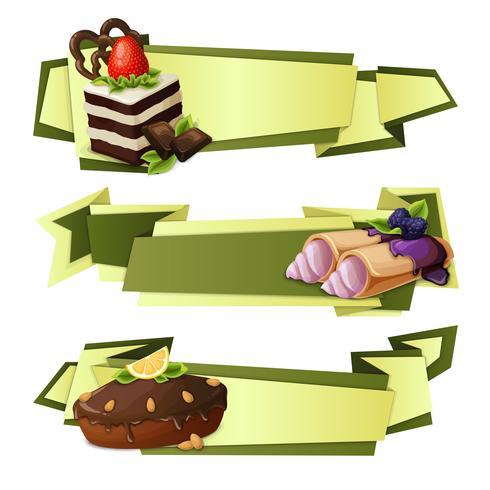 Bonbons banderoles en papier vecteur