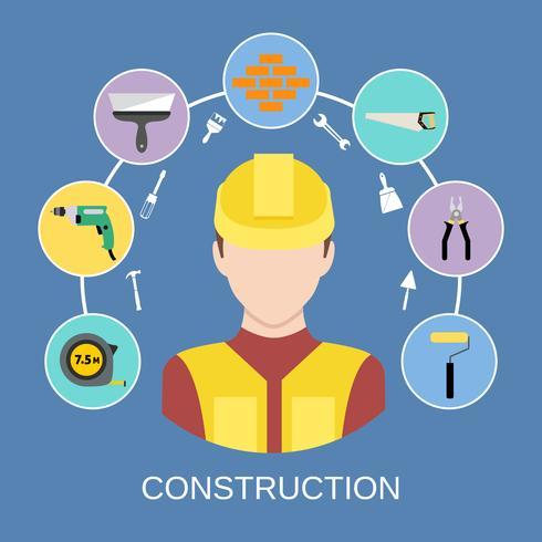 Ingénieur constructeur icônes définies vecteur