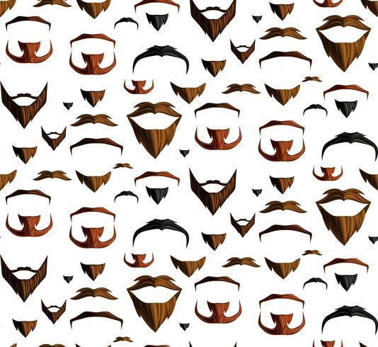 Moustache sans couture vecteur