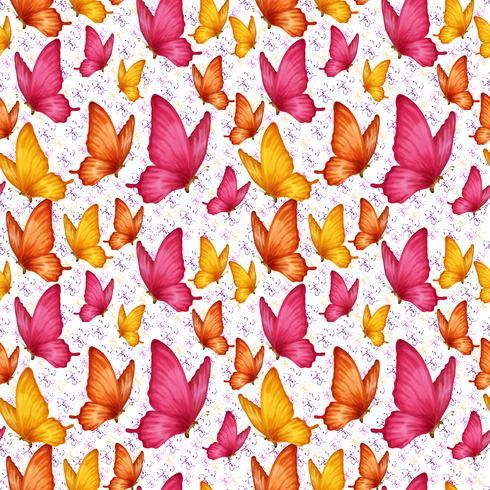 Modèle sans couture de papillons vecteur