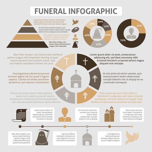 Infographie funéraire vecteur