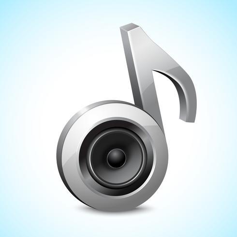 Note audio de haut-parleur vecteur
