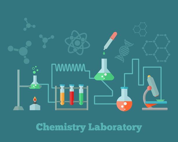 Concept de recherche en chimie vecteur