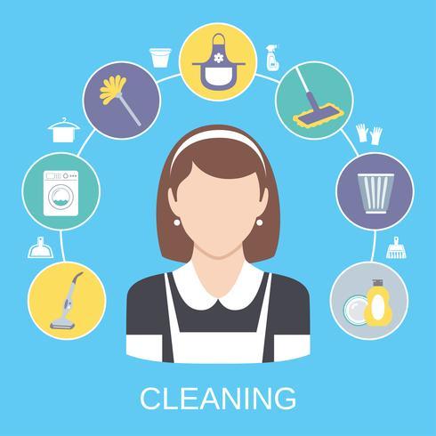 Concept de nettoyage vecteur