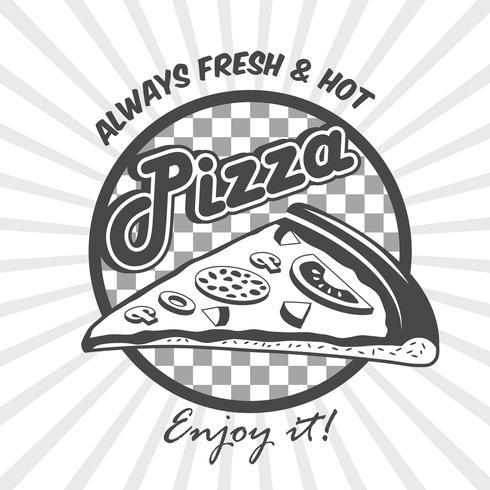 Affiche publicitaire pizza tranche vecteur
