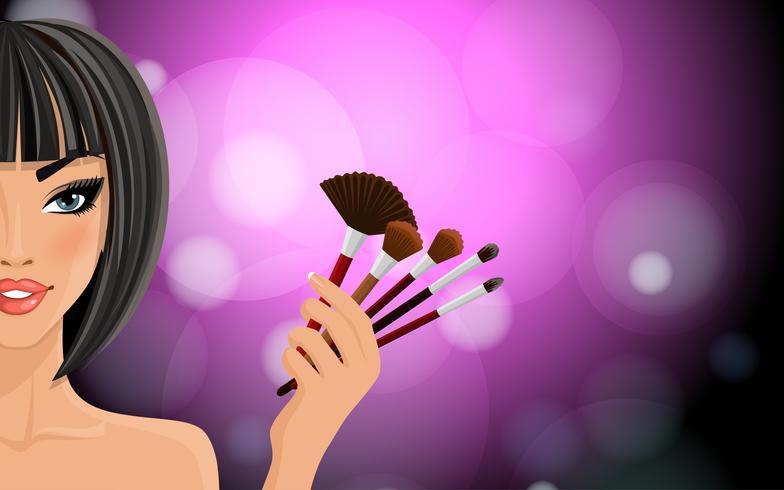 Maquillage de fond vecteur