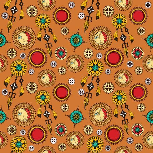 Fond sans couture tribal vecteur