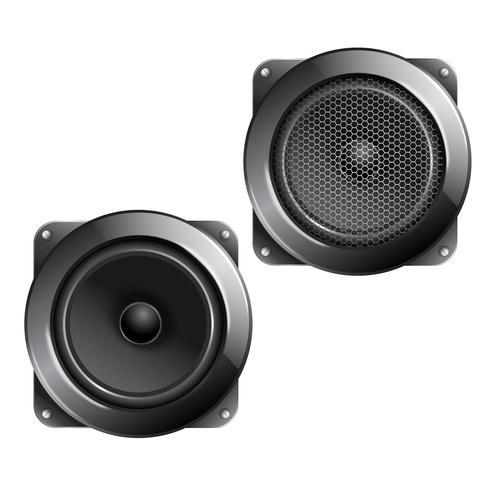 Haut-parleur audio isolé vecteur