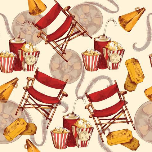Cinéma fond sans couture vecteur