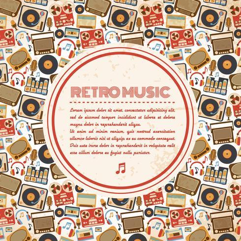 Affiche de musique rétro vecteur