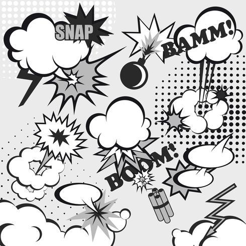 Fond de bande dessinée pop art vecteur