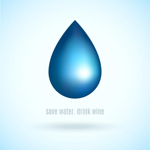 Goutte d'eau vecteur