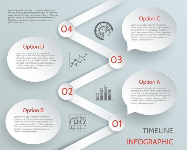 Chronologie des affaires infographique vecteur