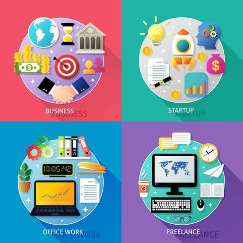 Concept de types d'entreprise vecteur