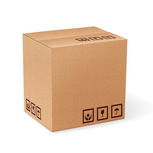 Boîte en carton isolée vecteur