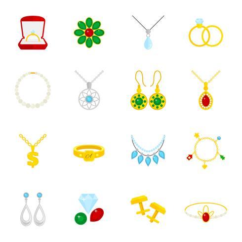 Icône de bijoux plat vecteur