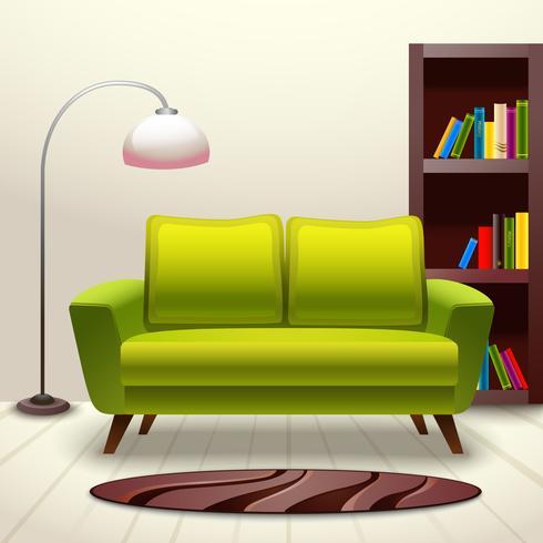 Canapé design d'intérieur vecteur