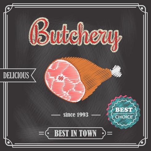 Tableau de viande affiche vecteur