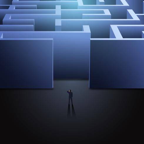 concept d'affaires de labyrinthe vecteur