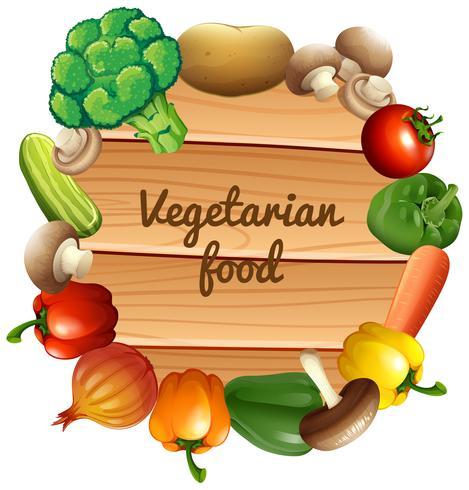 Bordure design avec des légumes frais vecteur