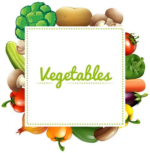 Variété de légumes vecteur