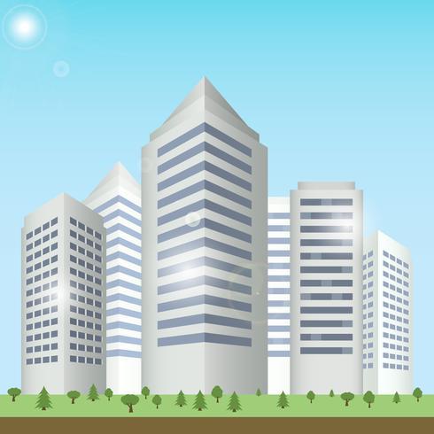 Paysage urbain de bâtiments modernes vecteur