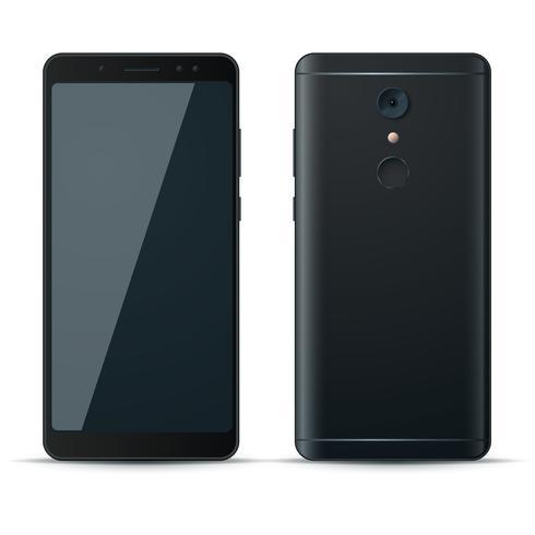 Icône réaliste de smartphone 3d sur fond blanc. vecteur