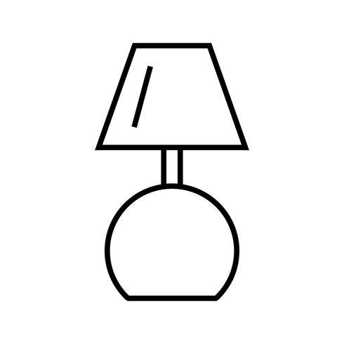 Icône de ligne de lampe noire vecteur