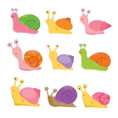 conception de collection vecteur escargot