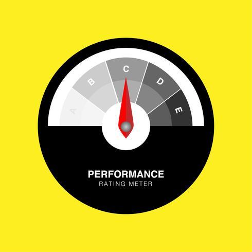 Illustration vectorielle créative d'indicateur de satisfaction client d'évaluation. Indicateur de performance vecteur