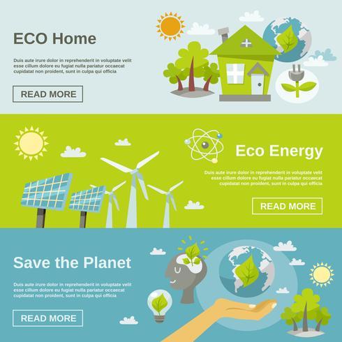 Bannière d'énergie écologique vecteur