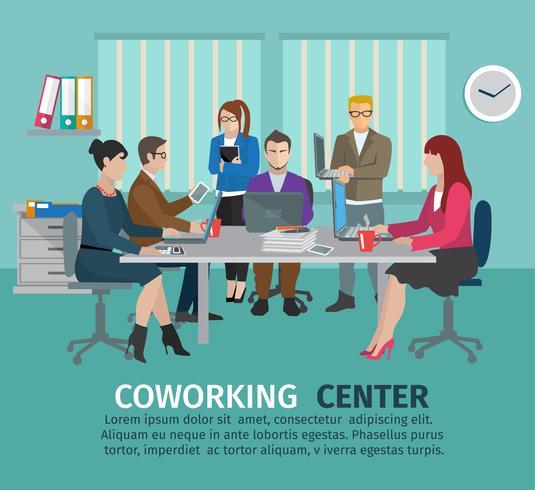 Centre de coworking vecteur