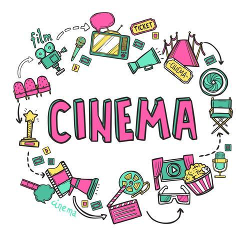Concept de design de cinéma vecteur