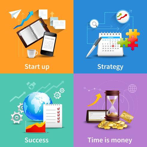Concepts de design d'entreprise vecteur