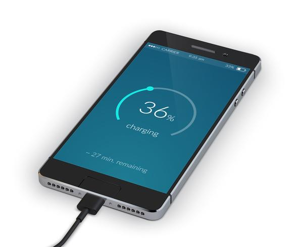Chargement de smartphone isolé vecteur