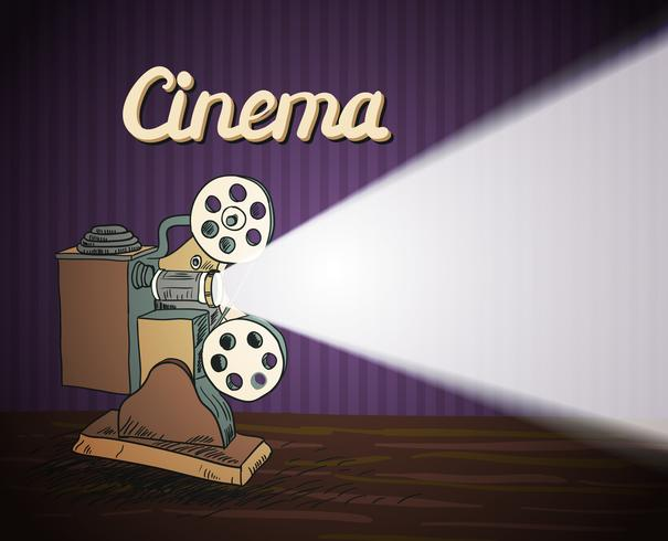 Projecteur de cinéma Doodle vecteur